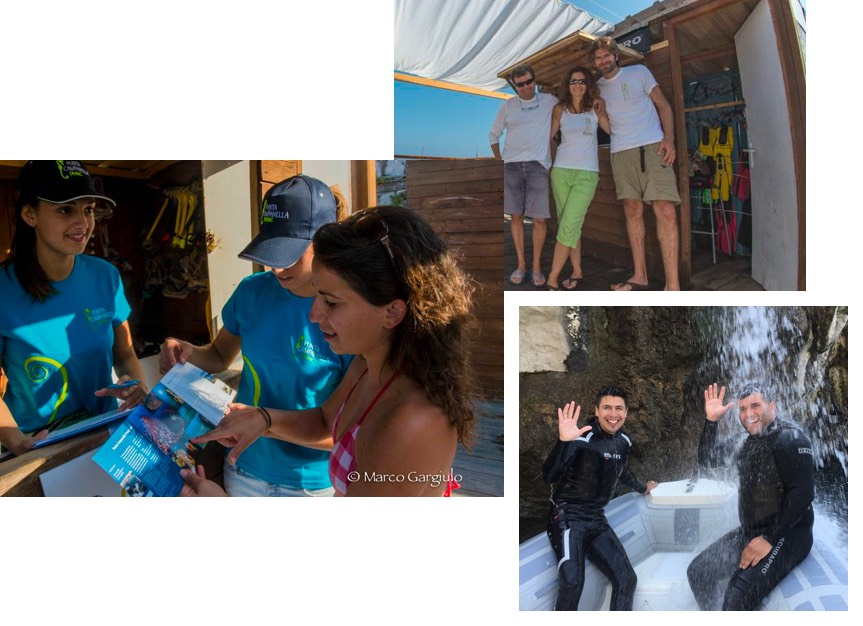 Lo staff del Diving Sorrento Punta Campanella